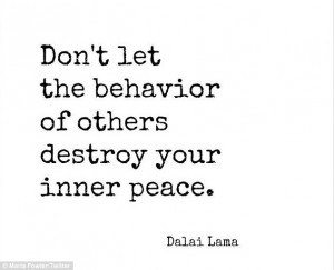 Keeping calm: Maria posted a quote from the Dalai Lama as she ...