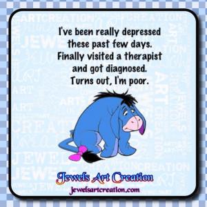Eeyore Quotes Depression Eeyore goes to a therapist