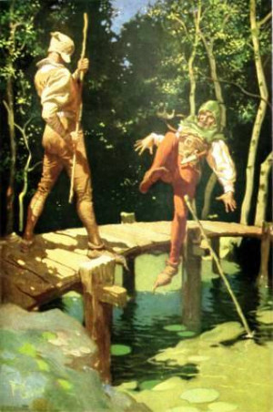 Description Little John and Robin Hood by Frank Godwin.jpg
