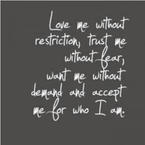 Love_accept who I am quote