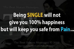 Being single ...