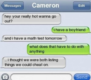 Funny Quotes About Boyfriends Cheating
