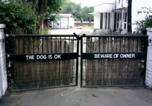 Beware of Dog Aign   Funny Dog Signs