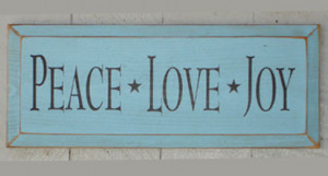 Love, Peace and Joy came down on earth on Christmas day to make you ...