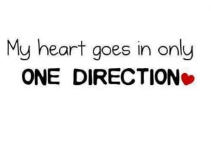My heart goes in only one direction