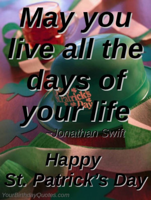 St, Patrick, Day, wishes, quotes, sayings, Irish, blessing, Jonathan ...