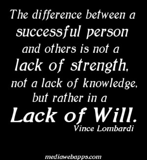 The Difference Between Successful Person And Others Not Lack