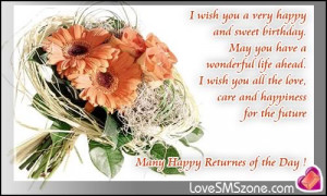happiness for the future many happy returnes of the day