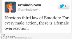 ... newton s third law of emotion funny quote explaining isaac newton s