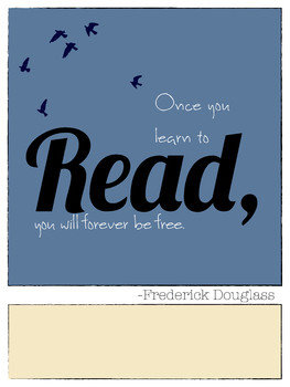 Reading Quote Poster Frederick Douglass