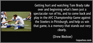 More Drew Bledsoe Quotes