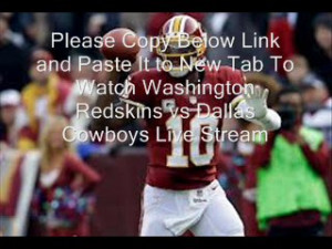 ... Cowboys vs Washington Redskins live streaming NFL online free HD