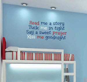 ... -Bedtime-Poem-Wall-Decal-Children-Bedroom-Kiss-Goodnight-Sweet-Quote