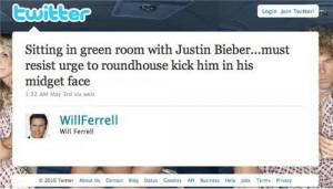 Will Ferrell trolls Justin Bieber