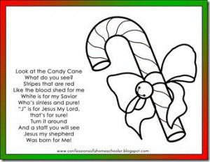 Candy Cane Poem and coloring page: Read the cute poem about Jesus and ...