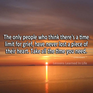 there is no time limit for grief