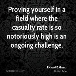 Proving yourself in a field where the casualty rate is so notoriously ...
