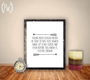 Boy Nursery Quote Print, arrow printable wall art decor, inpirational ...