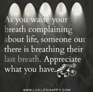 Appreciate what you have - quote