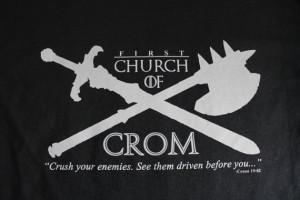 Conan the Barbarian T Shirt, Original Conan Movie, Church of Crom ...