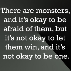 ... okay to let them win, and it's not okay to be one. (Criminal Minds