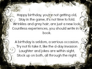 happy 21st birthday funny poems