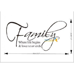 ... Quote/Vinyl Wall Decals :30*60cm Removable Waterpoof Wall Sticker