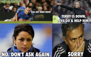 John Terry , Eva and Mourinho