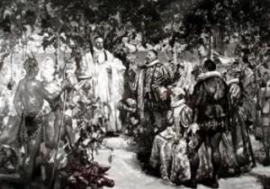 Image depicting Virginia Dare's baptism