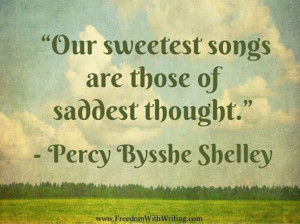 Percy Bysshe Shelley music quote