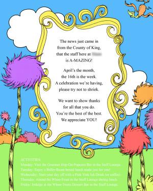 ... Staff web Dr. Seuss Themed Teacher Appreciation Week