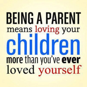 Being a good parenBeing a parent means not thinking about or caring ...