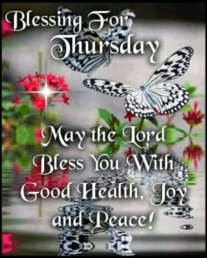 Blessings for Thursday
