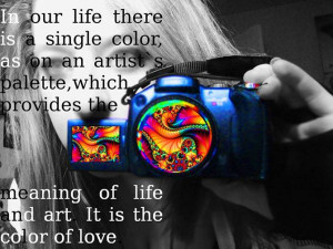 of life and art it is the color of love