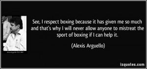 boxing quotes on respect