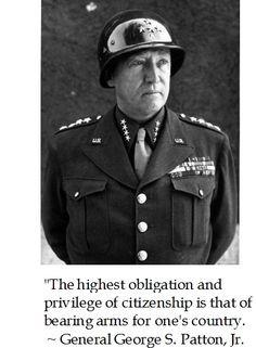 Gen. George S. Patton on Virtue #memorialday #quote More