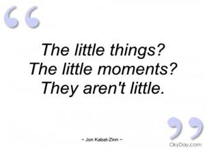 the little things jon kabat-zinn