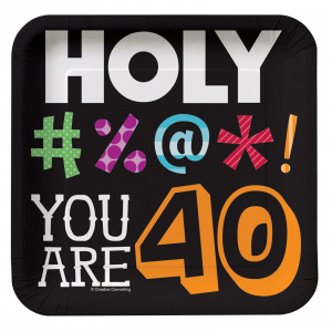 Home > Holy Bleep 40th Birthday - Square Dessert Plates