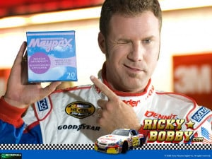 The official tampon of Ricky Bobby