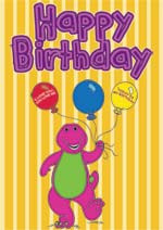 Barney the Dinosaur Birthday Card