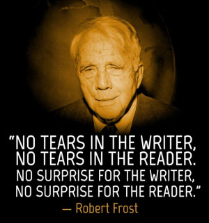 Robert Frost on writing.