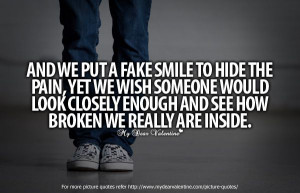 Faded, Hiding Pain Quotes, Blue Eyes, Fake A Smile Quotes, Love Quotes ...