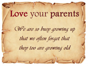 In via email - Love your parents