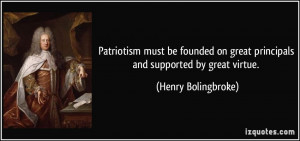 Patriotism Must Founded...