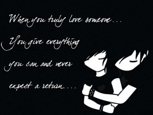 Love Quote in Cartoon in 1600 * 1200