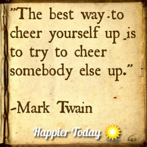 Twain Want to Get Happier? Make Someone Else Happier
