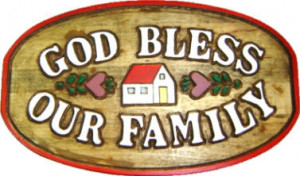 God bless our family plaque