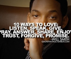 Will Smith quote on love. Will Smith has some amazing quotes on life ...