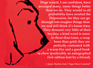 Drawing and quote by the late, great New Yorker humorist James Thurber