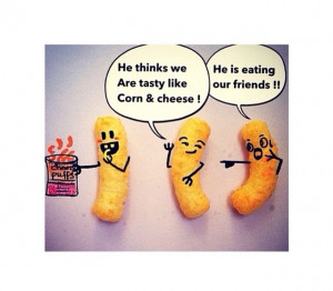 Funny cheese puffs